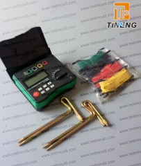4-Terminal Earth Resistance Tester and Soil Resistivity Tester