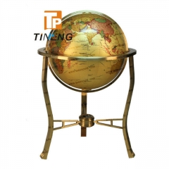 Deluxe big size brass globe use for decoration or others