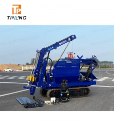 Fully Hydraulic dynamic probing rig on Crawler Chassis